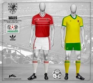 Kire Football Kits  Wales Kits World Cup 1986 Qualifying