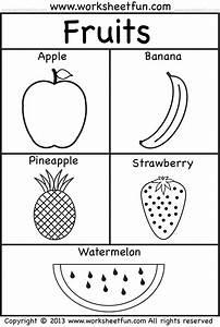Fruits Coloring And Tracing  U2013 4 Preschool Worksheets