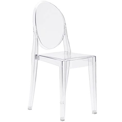poly and bark ghost style side chair clear