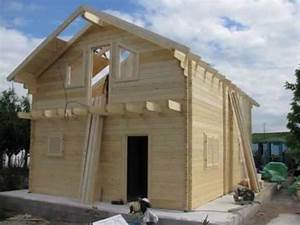Chalet Bois Kit : construction chalet bois en kit de 96 m paisseur 80 mm ~ Carolinahurricanesstore.com Idées de Décoration