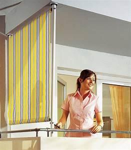 Klemmmarkisen Für Balkon : angerer freizeitm bel balkonsichtschutz polyacryl gelb grau in 2 breiten online kaufen otto ~ Eleganceandgraceweddings.com Haus und Dekorationen