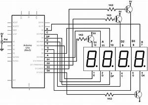 Image Result For 4 Digit 7 Segment Display Pin Configuration
