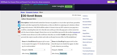 Jquery Scrolling Div by 25 Jquery Scroll Plugins Gojquery