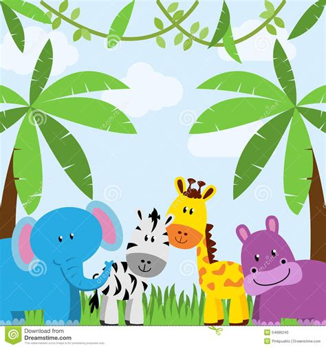 Animal Themed Wallpaper - baby jungle animals background