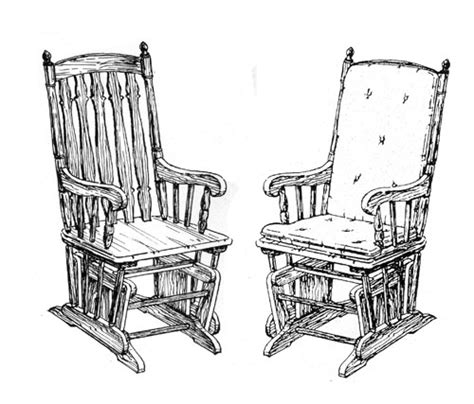 glider rocking chair plans    build diy
