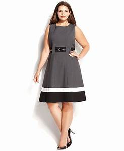 calvin klein plus size colorblock belted dress dresses With calvin klein special occasion dresses