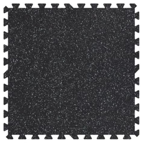 Outdoor Rubber Flooring Home Depot by Groovy Mats Grey Speck 24 In X 24 In Rubber Comfortable