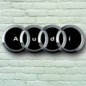 Audi Logo 700mm Large Garage Sign Wall Plaque Car Classic