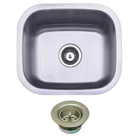 brass bar sink undermount kingston brass undermount stainless steel 16 in 0 hole