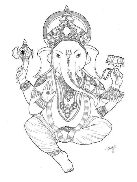 15 best Ganesha images on Pinterest | Lord ganesha, Deities and Coloring books
