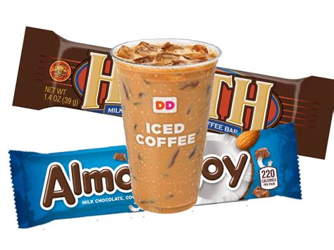 Dunkin' Donuts Adds New Almond Joy And Heath Bar Iced Caffeine Amount In 1 Cup Of Coffee By Miguel Per Decaf A Deathwish Drinks Homemade Drink Pee Lot Sightglass Cold Brew Baby