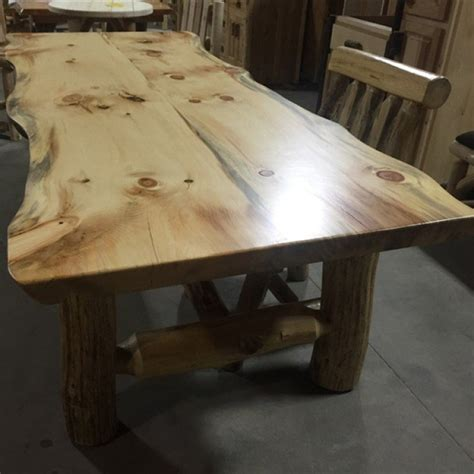 pine log dining tables  pine slab dining tables