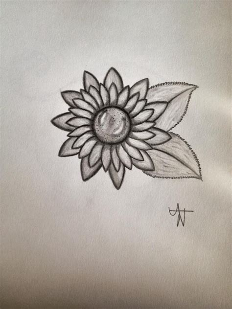 sunflower tattoo simple expressions pinterest leaves sunflower tattoos  sunflowers