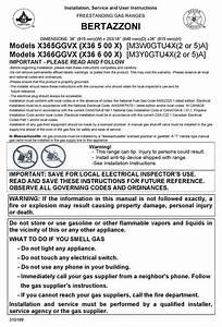 Bertazzoni X365ggvx  X36 5 00 X  Installation And User