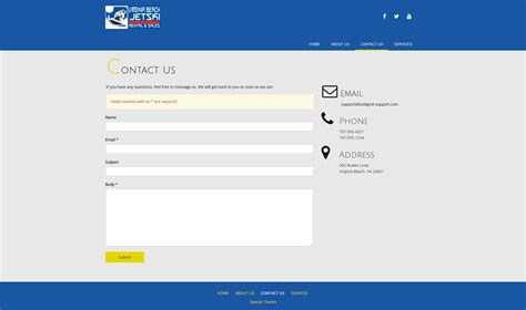 contact us page how to edit the contact page in boldgrid