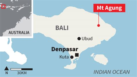 bali volcano  affect  australian travellers