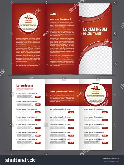 Trifold Design Template Empty by Vector Empty Trifold Brochure Template Design Menu