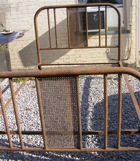 Vintage Iron Bed by Antique Vintage Iron Bed W Headboard Footboard Rails