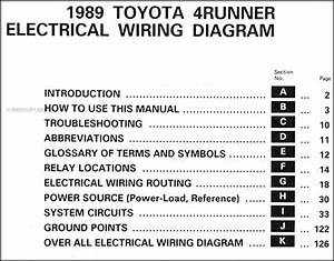 1989 Toyota 4runner Wiring Diagram Manual Original
