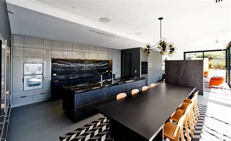 black kitchen island with marble top how black marble can make your home more glamorous 9301