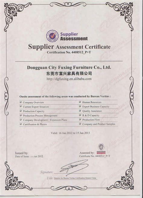 bureau veritas global shared services bureau veritas dongguan city fuxing furniture co ltd