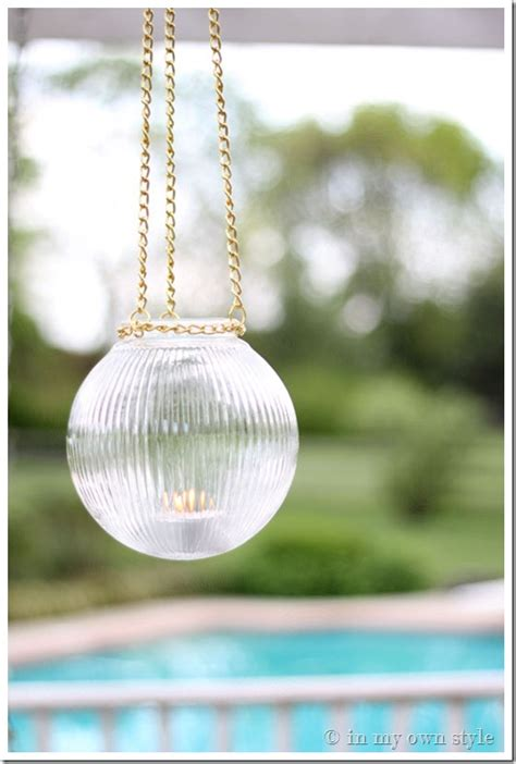 how to make outdoor glass hanging lights in my own style