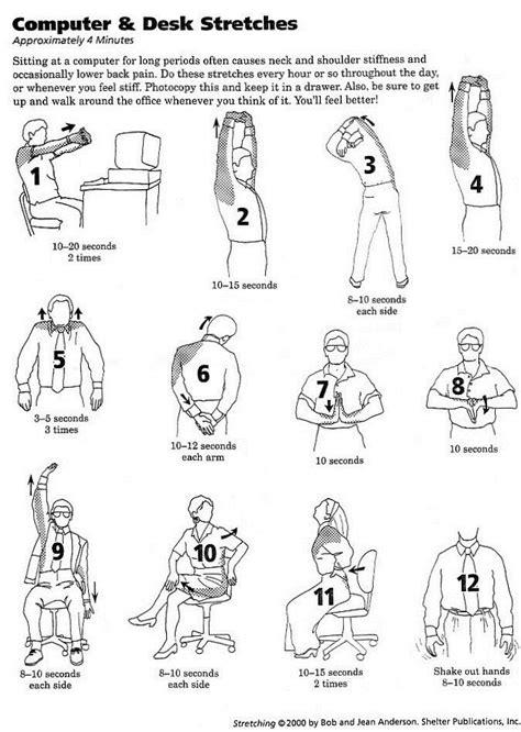 Office Desk Exercises by Best 25 Desk Exercises Ideas On Office