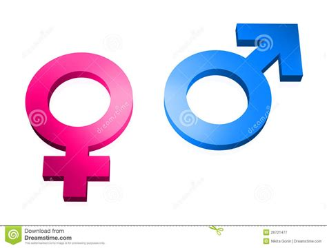 Gender Signs 3d On White Stock Illustration Illustration