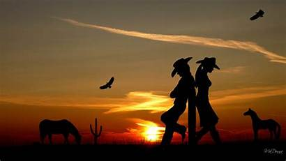 Western Desktop Cowboy Cactus Romance