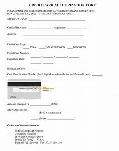 33  Credit Card Authorization Form Template