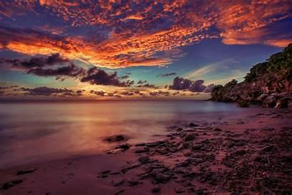 Sunset Beach Island Islands Curacao Beaches Caribbean