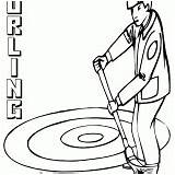 Curling Coloring Pages Colorings Coloringway sketch template