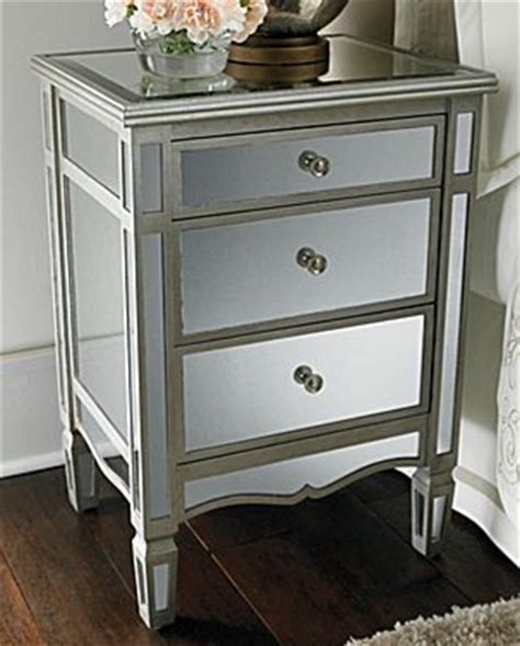 mirrored nightstand cheap copy cat chic pottery barn park mirrored bedside table