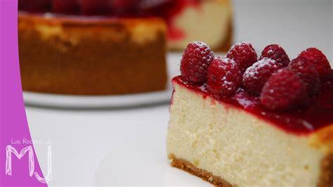 york cheesecake  frambuesas tarta de queso youtube