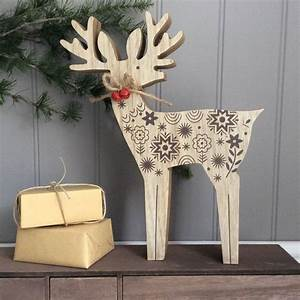 Wooden, Reindeer, Christmas, Ornament, Decoration, By, The, Christmas, Home