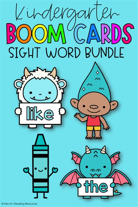 Kindergarten Sight Word Boom Cards™ in 2020 | Sight words ...