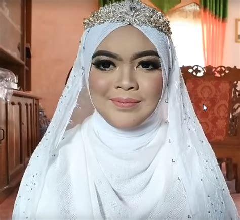 tutorial hijab pengantin syar  heejabid