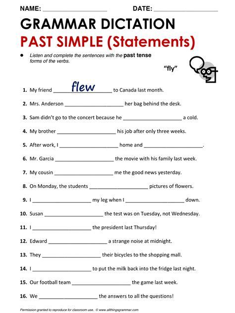 grammar past simple www allthingsgrammar past