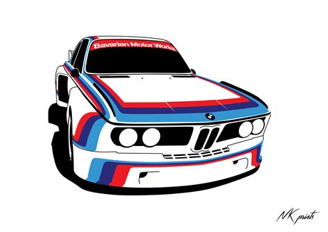 NK prints — Another racecar for today - BMW #E9 3 ...