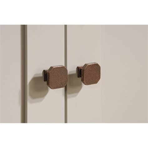 new grange 2 door accent storage cabinet cobblestone sauder sauder new grange 2 door chest in cobblestone 419135