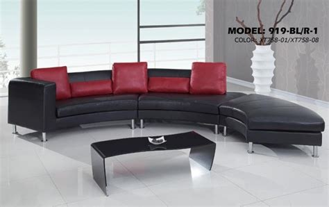 comfortable sofa sets contemporary s curved sectional sofa with contrasting