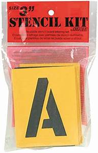 decorcal 3sk reusable stencil lettering kit 3 inch With 3 inch letter stencil kit