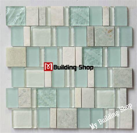 aliexpress buy blue green glass mosaic tile