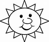 Sun Coloring Printable Pages sketch template