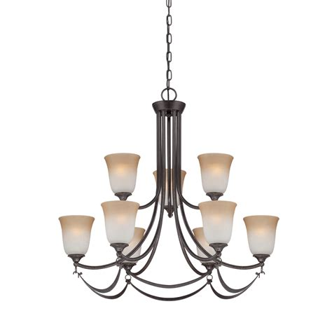 shop allen roth winnsboro 9 light imperial bronze