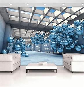fototapete tapete 3d blaue moderne 310134 pmvt ebay With balkon teppich mit 3d tapete ebay