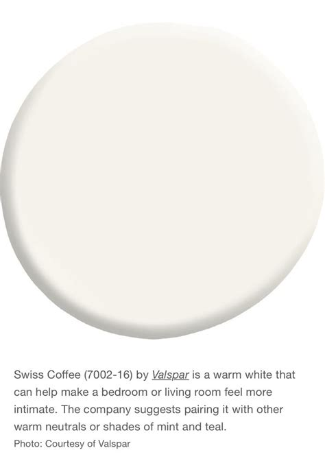 Also a great backdrop for accents like. Valspar Swiss Coffee | Off white paint colors, Valspar paint colors, Swiss coffee paint