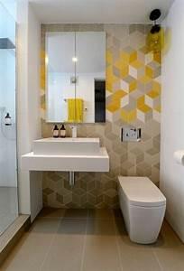 Papier Peint Pour Salle De Bain : luxe papier peint salle de bain harmonie avec carrelage ~ Dailycaller-alerts.com Idées de Décoration