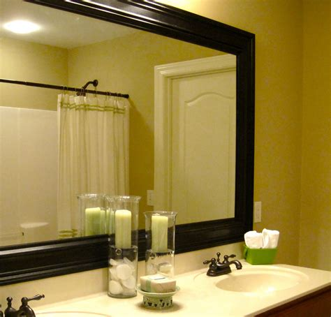 add  frame   bathroom mirror