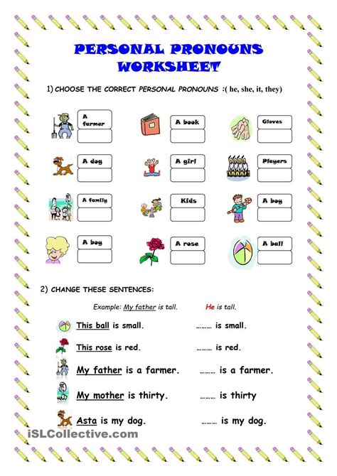 Personal Pronouns  Worksheet  Kindergarten Level  Learn English For Kids Pinterest